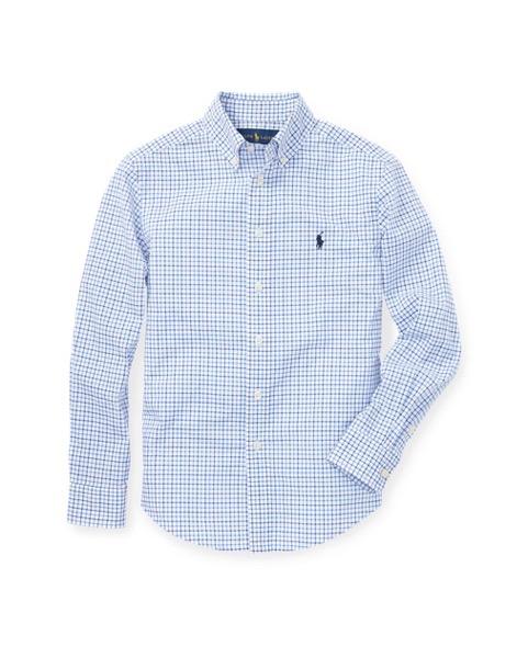 ラルフローレン ボーイズ/キッズ Polo Ralph Lauren Cotton Poplin Sport Shirt ボタンダウンシャツ BLUE MULTI 男の子