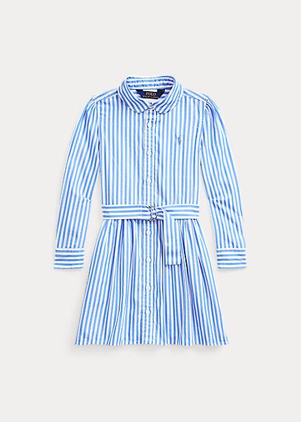 ポロ ラルフローレン 2-6X ガールズ/キッズ Polo Ralph Lauren Striped Cotton Shirtdress ワンピース Blue Multi 女の子