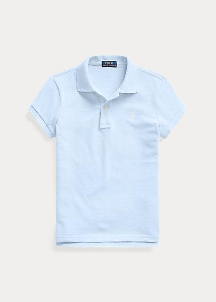 ラルフローレン 7-16 ガールズ/キッズ Polo Ralph Lauren Cotton Mesh Polo Shirt ポロシャツ 半袖 Elite Blue 女の子