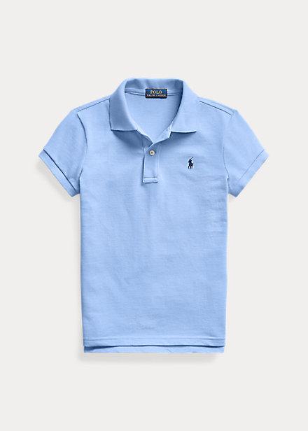 ラルフローレン 7-16 ガールズ/キッズ Polo Ralph Lauren Cotton Mesh Polo Shirt ポロシャツ 半袖 Harbor Island Blue 女の子