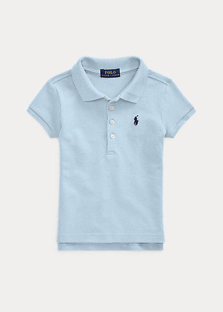 ラルフローレン 2-6X ガールズ/キッズ Polo Ralph Lauren Cotton Polo Shirt ポロシャツ 半袖 Elite Blue 女の子