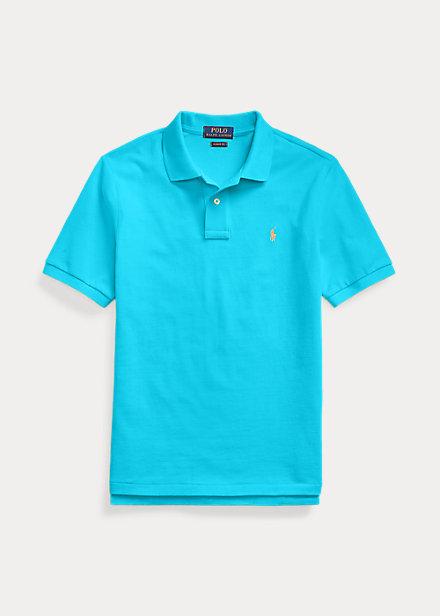 ラルフローレン 8-20 ボーイズ/キッズ Polo Ralph Lauren Cotton Mesh Polo Shirt ポロシャツ 半袖 Cove Blue 男の子