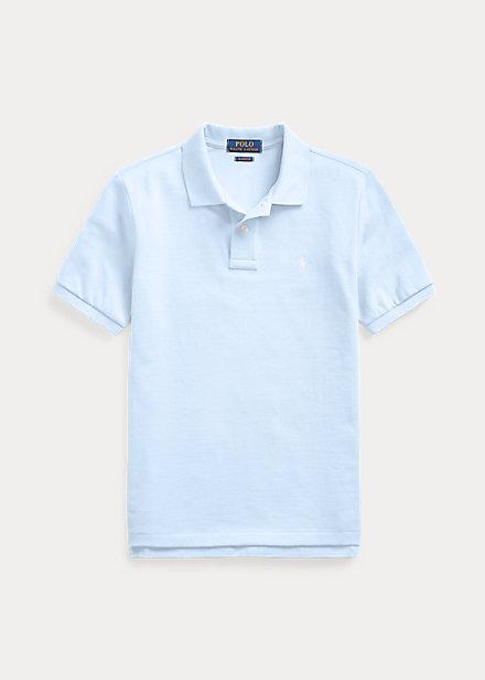 ラルフローレン 8-20 ボーイズ/キッズ Polo Ralph Lauren Cotton Mesh Polo Shirt ポロシャツ 半袖 Elite Blue 男の子