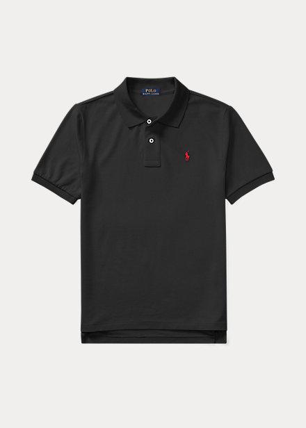 ラルフローレン 8-20 ボーイズ/キッズ Polo Ralph Lauren Cotton Mesh Polo Shirt ポロシャツ 半袖 New Iris Blue 男の子