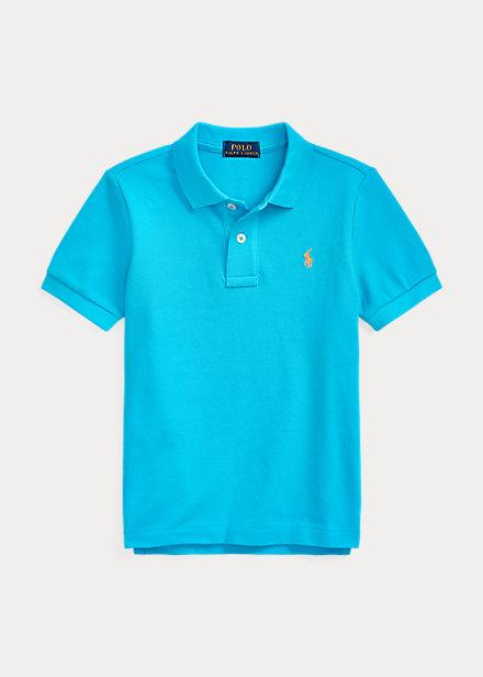 ラルフローレン 2T-7 ボーイズ/キッズ Polo Ralph Lauren Cotton Mesh Polo Shirt ポロシャツ 半袖 Cove Blue 男の子
