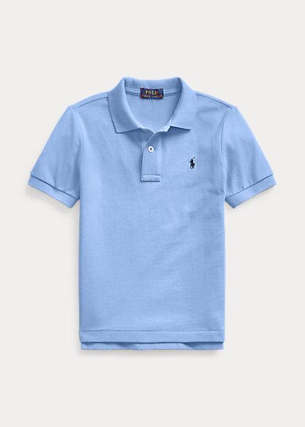 ラルフローレン 2T-7 ボーイズ/キッズ Polo Ralph Lauren Cotton Mesh Polo Shirt ポロシャツ 半袖 Harbor Island Blue 男の子