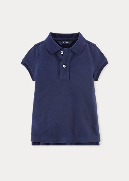ラルフローレン 2-6X ガールズ/キッズ Polo Ralph Lauren Uniform Polo ポロシャツ 半袖 Newport Navy 女の子