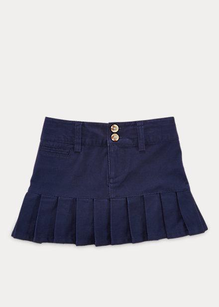 ポロ ラルフローレン 2-6X ガールズ/キッズ Polo Ralph Lauren Stretch Cotton Chino Skirt スカート Newport Navy 女の子