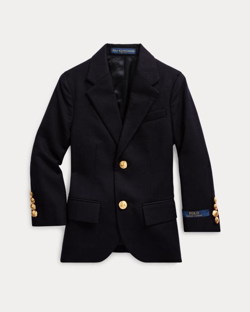ポロ ラルフローレン 2T-7 ボーイズ/キッズ Polo Ralph Lauren Wool Brass-Button Sport Coat ジャケット NAVY