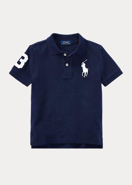 ラルフローレン 2T-7 ボーイズ/キッズ Polo Ralph Lauren Big Pony Cotton Mesh Polo ポロシャツ 半袖 French Navy 男の子