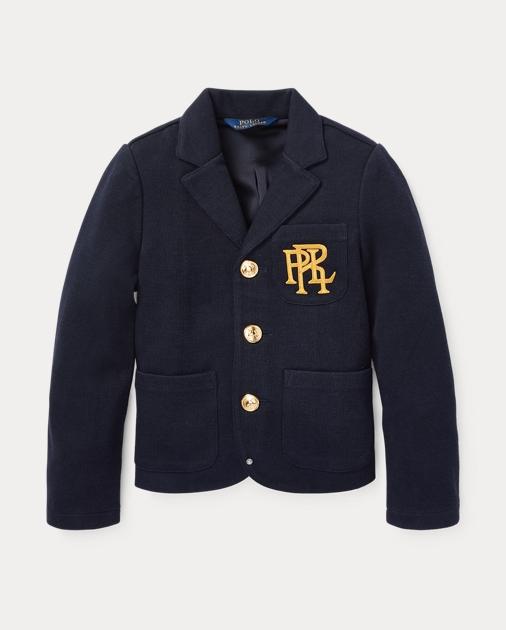 ポロ ラルフローレン 2T-6X ガールズ/キッズ Polo Ralph Lauren Knit Cotton-Blend Blazer ブレザー ジャケット AVIATOR NAVY