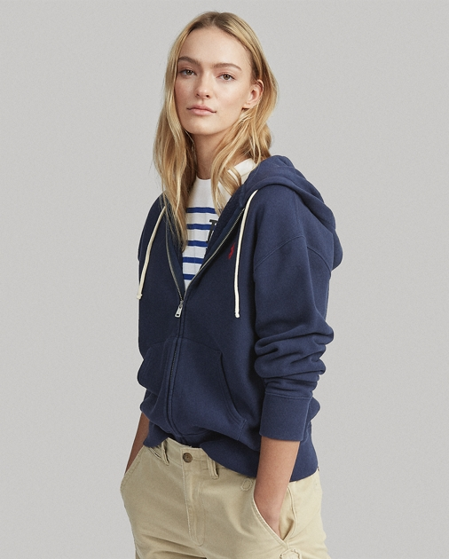 ポロ ラルフローレン レディース Polo Ralph Lauren Fleece Full-Zip Hoodie パーカー CRUISE NAVY