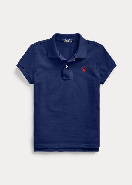 ラルフローレン 7-16 ガールズ/キッズ Polo Ralph Lauren Cotton Mesh Polo Shirt ポロシャツ 半袖 Newport Navy 女の子
