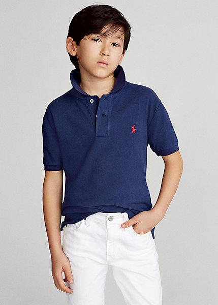 ラルフローレン 8-20 ボーイズ/キッズ Polo Ralph Lauren Cotton Mesh Polo Shirt ポロシャツ 半袖 Newport Navy 男の子