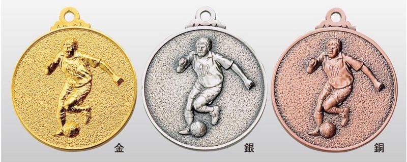 トロフィー工房のメダルは 高品質レーザー印字無料 10000円以上お買い上げで送料無料 SMメダル40mm サッカーB SM7113A 新着セール A-1 首掛けリボンあり ついに再販開始 プラケース