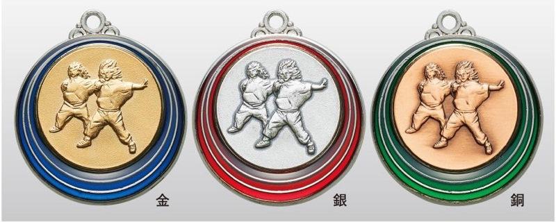 トロフィー工房のメダルは 人気商品 高品質レーザー印字無料 10000円以上お買い上げで送料無料 2020春夏新作 SMカラーメダル40mm ダンス SM7221A プラケース A-1 首掛けリボンあり