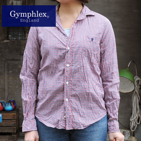 Gymphlex Lady's mini check pattern skipper t-shirt ( 1033-MPC ) 20 Sierra