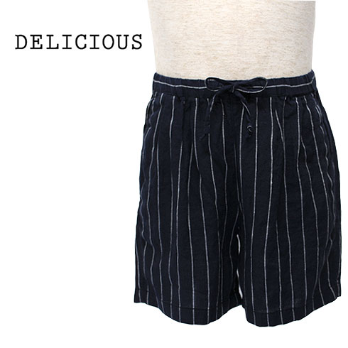 DELICIOUS【デリシャス】Linen Easy Shorts Men's【DP3619-171】【楽ギフ_メッセ入力】