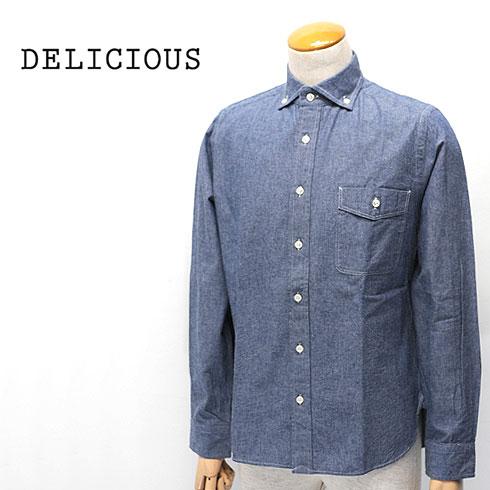 【10%OFF】 DELICIOUS【デリシャス】シャンブレー ボタンダウンシャツ Pujol(プジョル) Men's【DS0103】【楽ギフ_メッセ入力】