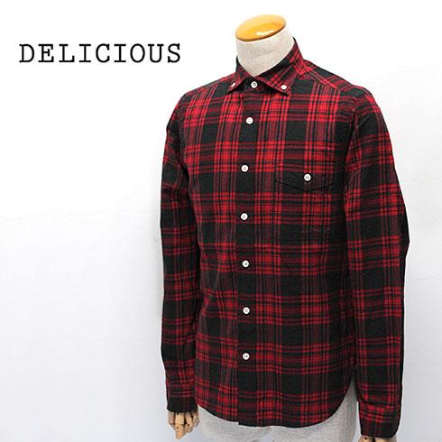 【10%OFF】 DELICIOUS【デリシャス】ボタンダウン チェックシャツ Pujol(プジョル) Men's【DS0141-173】【楽ギフ_メッセ入力】