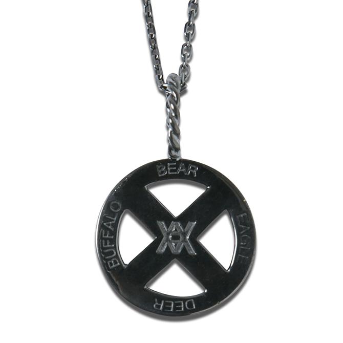 【セール/SALE-30】ANIMALIA(アニマリア) MEDICINE WHEEL-BLACK titanium チタン加工 ネックレス 地金は真鍮を使用