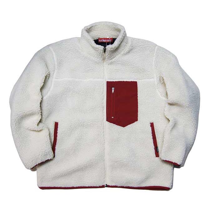 【セール/SALE-30】DOUBLESTEAL(ダブルスチール) BORE FLEECE JACKET (IVORY/RED) フリースジャケット