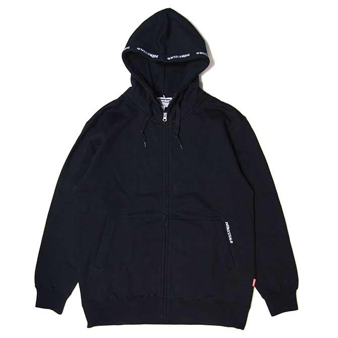 【セール/SALE-30】DOUBLESTEAL(ダブルスチール) HIGH HOOD ZIP PARKA (BLACK) ジップアップパーカー
