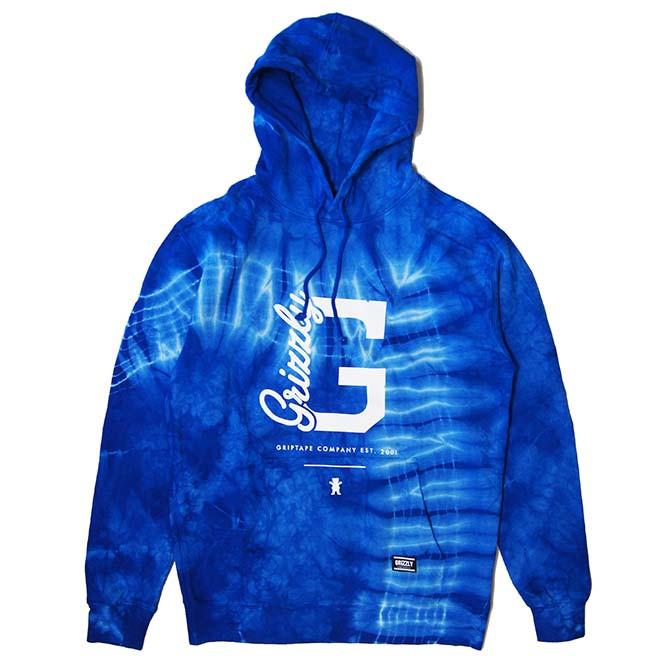 【セール/SALE-30】GRIZZLY(グリズリー) BLUE HEAVEN HOODIE (TIE DYE) タイダイ プルオーバーパーカー