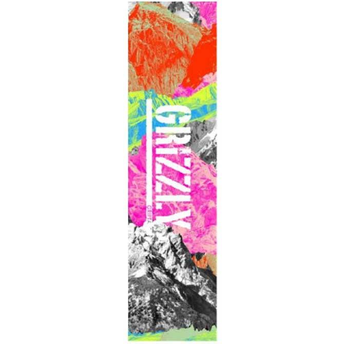 公式通販 GRIZZLY グリズリー NEON RANGE STAMP GRIPTAPE MULTI SKATEBOARD デッキテープ 値引き スケートボード グリップテープ 1枚価格