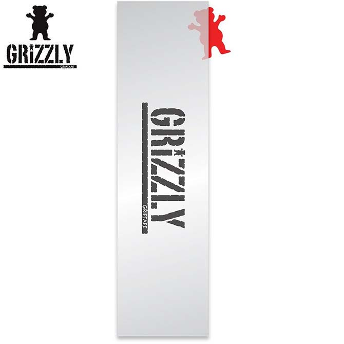 GRIZZLY グリズリー CLEAR 訳あり品送料無料 STAMP GRIPTAPE ◆セール特価品◆ スケートボード SKATEBOARD デッキテープ 1枚価格 グリップテープ