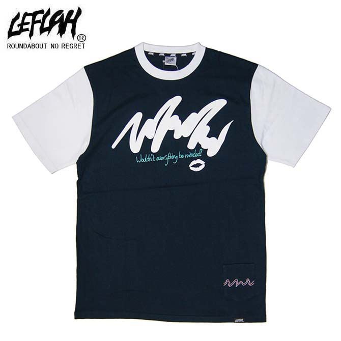 LEFLAH(レフラー) feel me Tシャツ T-SHIRTS TEE (NAVY)