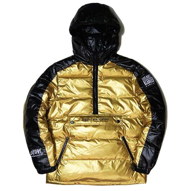 【2020-1月入荷】LEFLAH (レフラー) プルオーバーダウンジャケット (GOLD) DOWN JACKET アウター