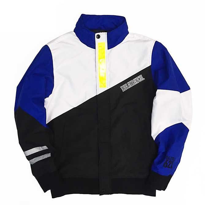 【セール/SALE-30】LEFLAH(レフラー) REFLECTOR NYLON HOOD IN JACKET (BLUE/WHITE) リフレクターナイロンフードインジャケット