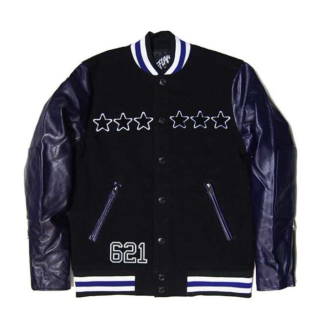 【セール/SALE-30】LEFLAH(レフラー) レザースタジアムジャケット(PURPLE)LEATHER STADIUM JACKET スタジャン