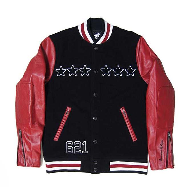 【セール/SALE-30】LEFLAH(レフラー) レザースタジアムジャケット(RED)LEATHER STADIUM JACKET