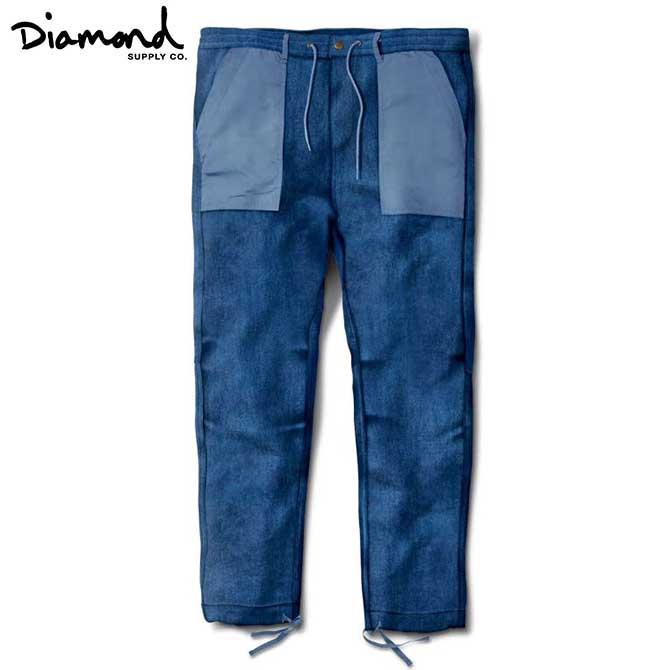 【2019-12月入荷】Diamond Supply Co.(ダイヤモンド) DENIM BUNKER PANTS (BLUE) デニムパンツ