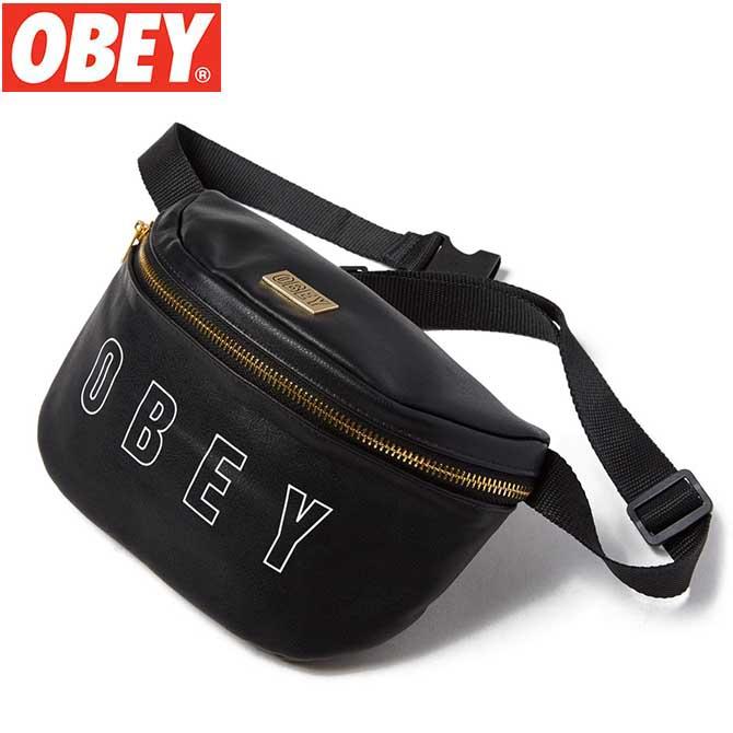 【レディース】OBEY (オベイ) PARKER SLING BAG (BLACK) スリングバッグ ウェストバッグ ボディーバック