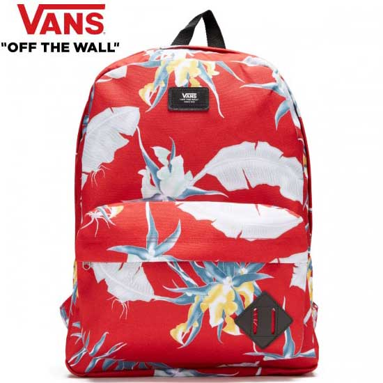 VANS (ヴァンズ) Vans Old Skool II Backpack (Racing Red Arachnofloria) バックパック