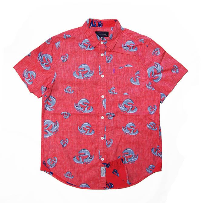 【セール/SALE-40】MISHKA(ミシカ)/半袖シャツ/FADED RED(レッド)/GRILLE LOBSTER BUTTON-UP SHIRTS/アロハシャツ ALOHA