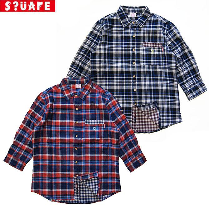 【セール/SALE-30】SQUARE(スクエア) 3/4 CHECK SHIRTS 7分袖 チェックシャツ【名古屋/nagoya/SQAR】
