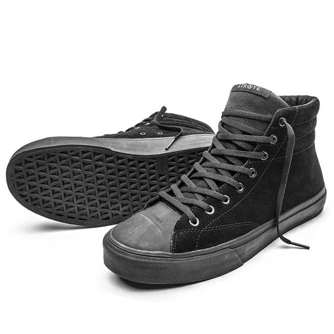 2020-CORE STRAYE 買い物 国産品 ストレイ VENICE BLACK-BLACK スエード 国内正規取扱い店 SUEDE スニーカー
