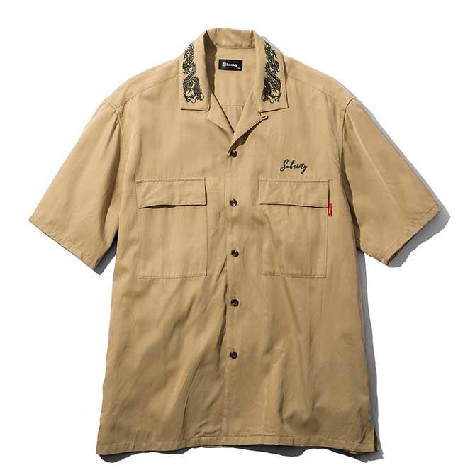 【セール/SALE-30】Subciety(サブサエティー) MILITARY SHIRT (KHAKI) ミリタリー 半袖シャツ