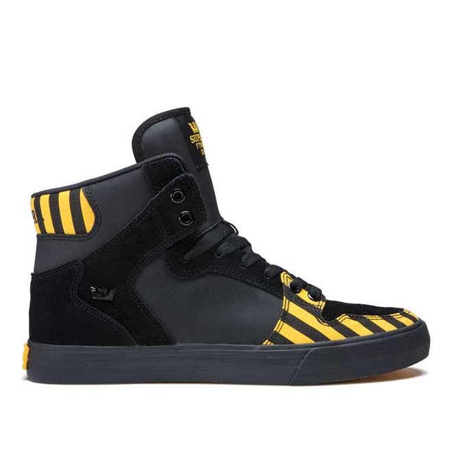 【2019SS】SUPRA(スープラ) VAIDER(ベイダー) CAUTION-BLACK ハイカット シューズ スニーカー【国内正規取扱い店】