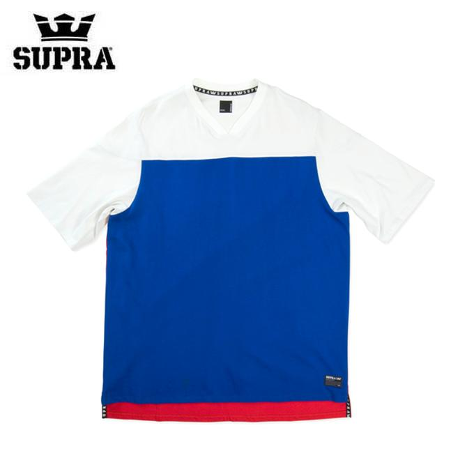 【2019SS】SUPRA(スープラ) ALL CITY TEAM JERSEY (RED/BLUE/WHITE) TEE TS 半袖Tシャツ【国内正規取扱い店】【アパレル/トップス】
