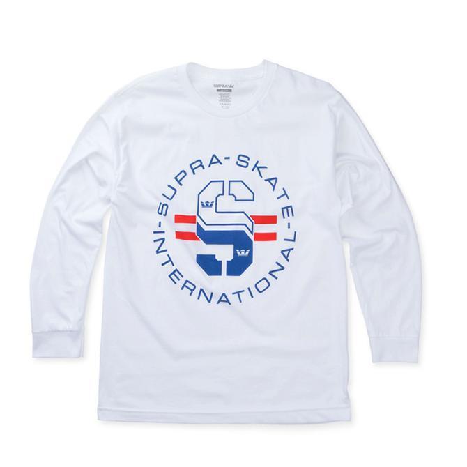 【2019SS】SUPRA(スープラ) SKATE LONG SLEEVE T-SHIRTS (WHITE) TEE TS 長袖Tシャツ ロンT【国内正規取扱い店】【アパレル/トップス】