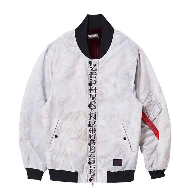 【セール/SALE-30】ZEPHYREN(ゼファレン) MA-1 -apocalypse- (WHITE) エムエーワンジャケット アウター