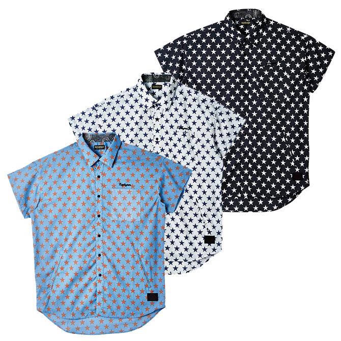 【セール/SALE-30】ZEPHYREN(ゼファレン) STAR BIG SHIRT L/S -Resolve- 半袖ビッグシャツ
