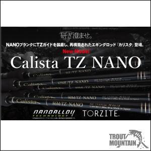 【ご予約】【送料無料】ヤマガブランクスカリスタTZナノ【Calista 89ML/TZ NANO】【エギングロッド】【大型宅配便】