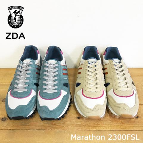 本物 SALE レトロな雰囲気とハイテク感を併せ持ったデザイン ZDA ゼットディーエー マラソン スニーカー マラソンソール Men'sランニングソール 新生活 レトロ 2300FSL レトロスニーカー Marathon