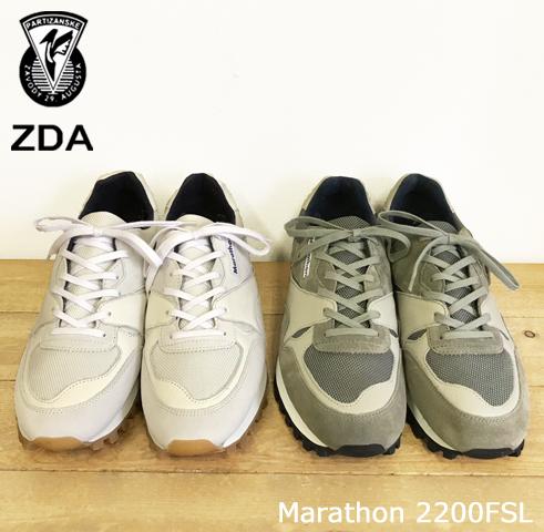 ZDA(ゼットディーエー)マラソン スニーカー Marathon 2400FSL Lady'sランニングソール/マラソンソール/レトロスニーカー/レトロ
